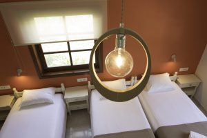 Room 6, light and beds